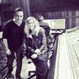 Lara Fabian et Mustafa Ceceli en studio, le 30 juillet 2014.