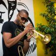 Trombone Shorty au Paleo Festival de Nyon, en Suisse, le 24 juillet 2014.