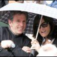 Claude Puel et son épouse à Roland-Garros en juin 2010