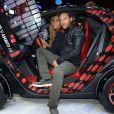 Cathy et David Guetta le 27 septembre 2012 à Paris lors de la présentation de la Renault Twizy by Cathy & David Guetta au Mondial de l'auto 2012