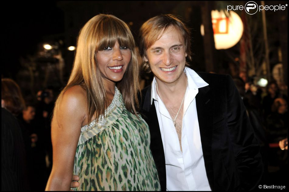 cathy et david guetta au palais des festivals de cannes le 26 janvier 2008 pour les nrj music awards. Black Bedroom Furniture Sets. Home Design Ideas