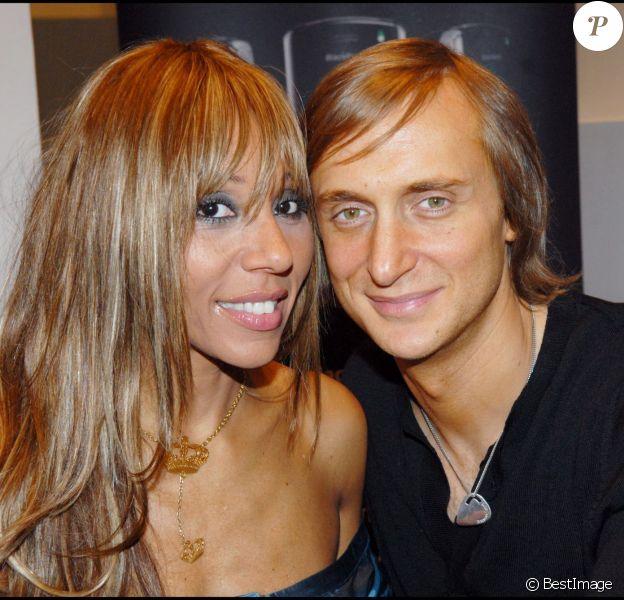 Cathy et David Guetta à Paris en octobre 2006 lors d'une soirée promotionnelle au Musée d'art moderne de Paris.