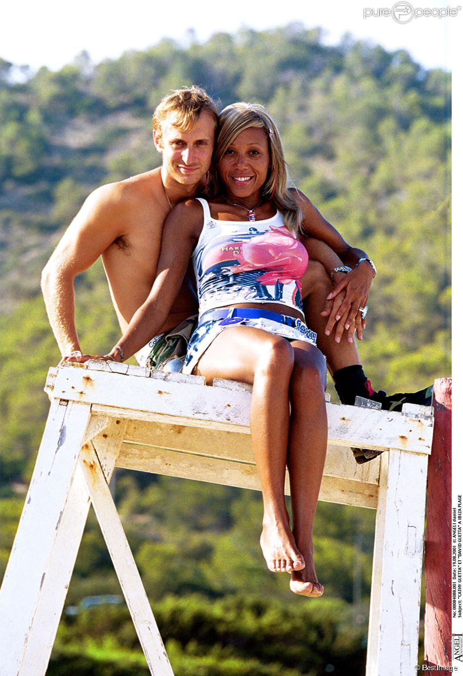 david guetta et cathy guetta ibiza en ao t 2001. Black Bedroom Furniture Sets. Home Design Ideas