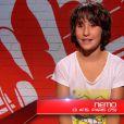 Némo dans The Voice Kids sur TF1. Episode 1 diffusé le samedi 23 août 2014 sur TF1.