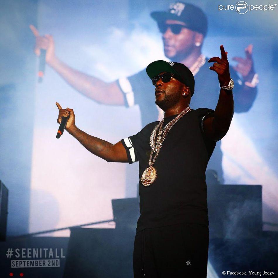 Jeezy en concert lors de la tournée Under the Influence of Music Tour.
