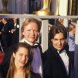 Jon Voight avec Angelina Jolie et James Haven aux Oscars 1988.