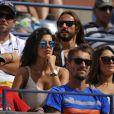 Noura assiste au match de son amoureux Jo-Wilfried Tsonga à l'USTA Billie Jean King National le 1er Septembre à New York contre Andy Murray.