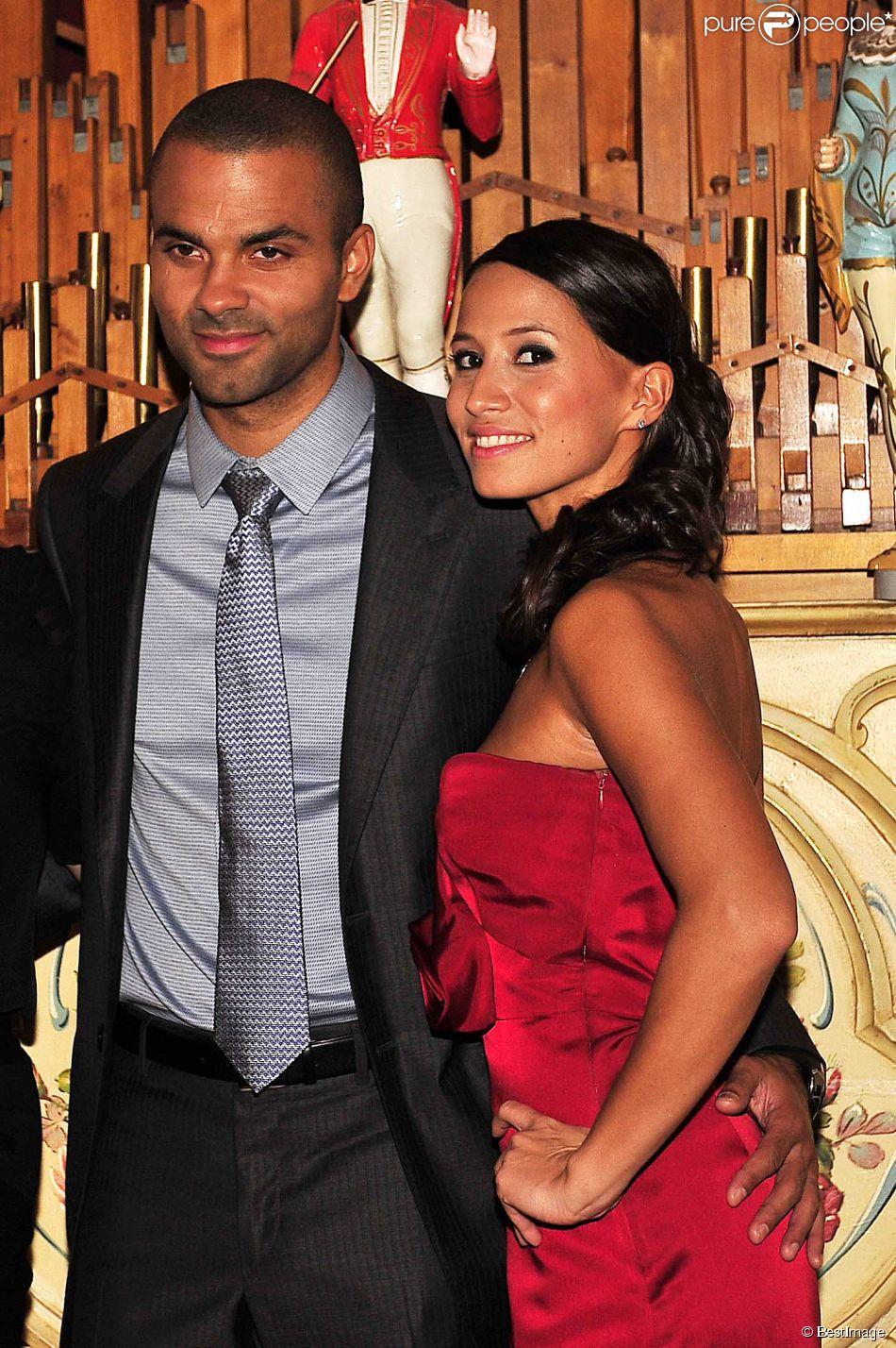 Tony Parker et sa compagne Axelle à Lyon, le 20 septembre 2012.