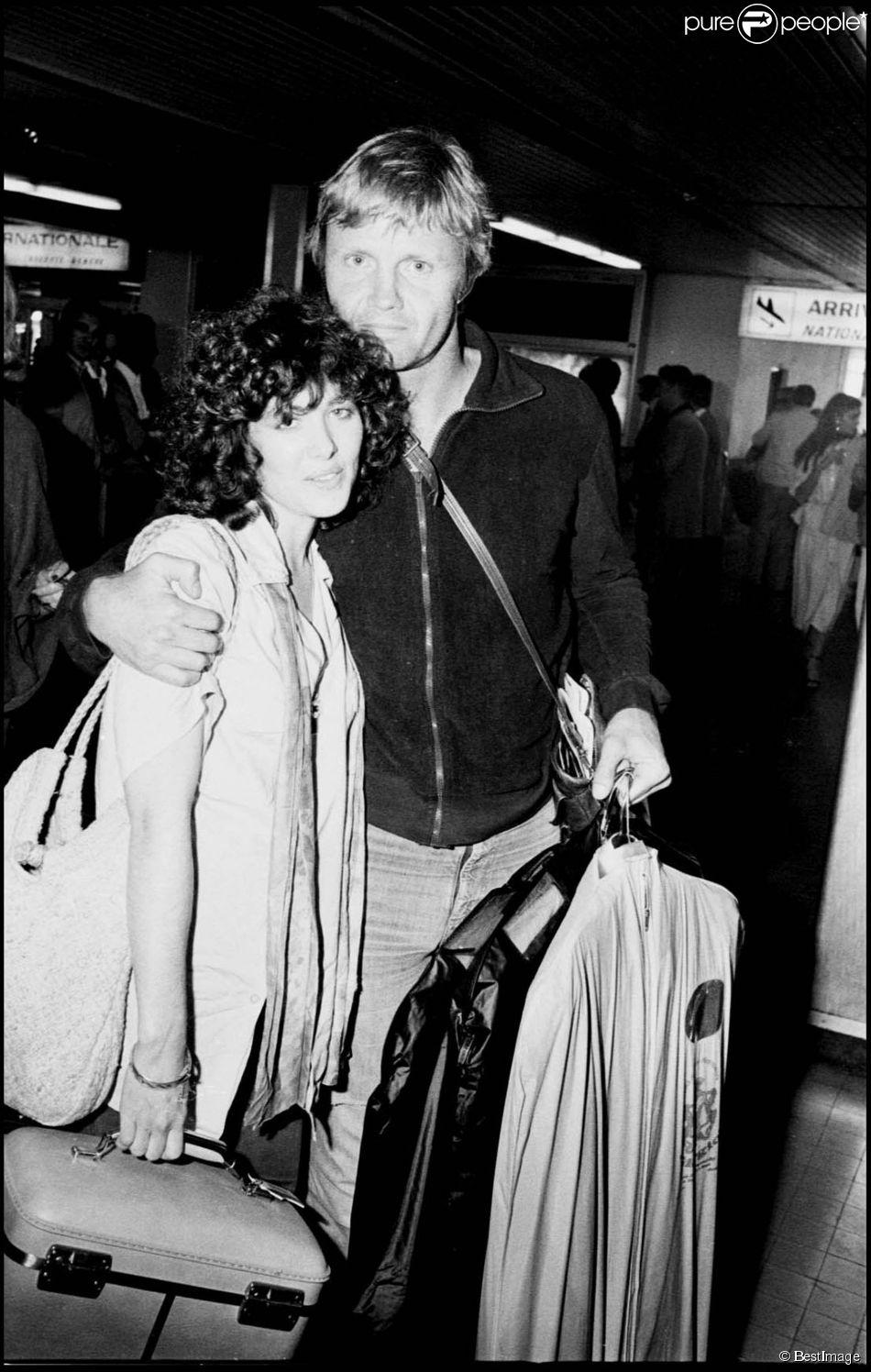 Jon Voight et Marcheline Bertrand lors du Festival de Cannes 1978
