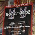 """Affiche de la pièce """"Georges et Georges"""", à Paris, le 2 septembre 2014."""