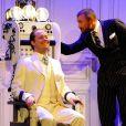 """Davy Sardou, Alexandre Brasseur - Filage de la pièce """"Georges et Georges"""" au théâtre Rive Gauche à Paris, le 26 aout 2014."""