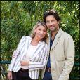 Bruno Madinier et son épouse Camille au Village VIP de Roland-Garros le 29 mai 2011 à Paris