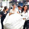 Michelle Harper et Jenny Shimizu à New York, le 22 août 2014.