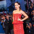 """Zoë Kravitz dans une robe Armani Privé - Avant-première du film """"Good Kill"""" lors du 71e Mostra de Venise le 5 septembre 2014."""