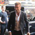 David Beckham arrive au restaurant Balthazar, dans le quartier de SoHo. New York, le 7 septembre 2014.