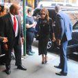 David et Victoria Beckham arrivent au restaurant Balthazar, dans le quartier de SoHo. New York, le 7 septembre 2014.