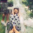 La belle Nabilla a relevé le défi du Ice Bucket Challenge ! Août 2014.