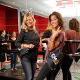 Justine Fraioli et Laurie Cholewa présentent une nouvelle activité  de   CMG Sports Club : le pound. Le 4 septembre 2014 au CMG Pure Bastille.