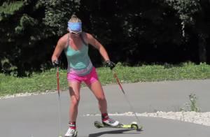 Marie Dorin très enceinte : La médaillée olympique continue l'entraînement !