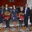 La princesse Mary de Danemark en robe Erdem au Ny Carlsberg Glyptoket pour la remise des prix de la Fondation Carlsberg pour la recherche scientifique, le 9 septembre 2014 à Copenhague.