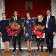 La princesse Mary de Danemark portait une robe Erdem au Ny Carlsberg Glyptoket pour la remise des prix de la Fondation Carlsberg pour la recherche scientifique, le 9 septembre 2014 à Copenhague.