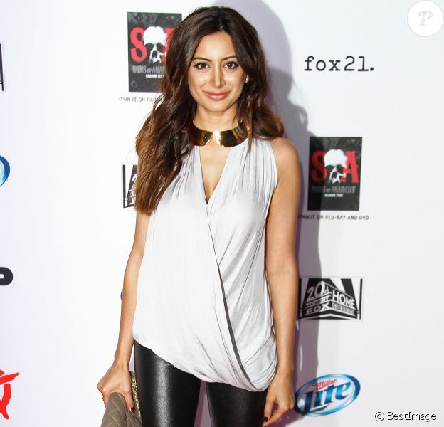 Noureen DeWulf à la première de ''Sons Of Anarchy'' à Hollywood, le 7 septembre 2013.