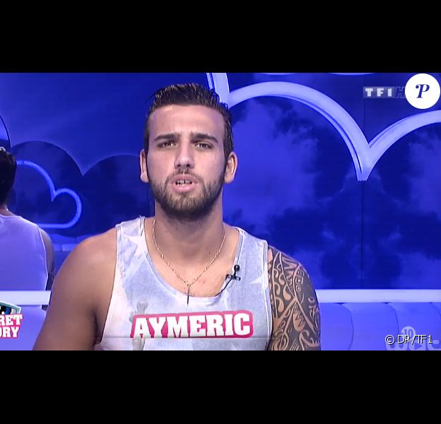 Aymeric dans la quotidienne de Secret Story 8, le jeudi 11 septembre 2014, sur TF1