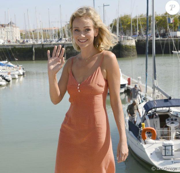 Claire Borotra au 16e Festival de la Fiction TV, à La Rochelle, le 12 septembre 2014.