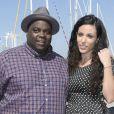 Issa Doumbia et sa compagne Caroline au 16e Festival de la Fiction TV, à La Rochelle, le 12 septembre 2014.