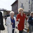 Line Renaud et Nicole Sonneville au 16e Festival de la Fiction TV, à La Rochelle, le 12 septembre 2014.