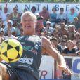 Exclusif - Didier Deschamps au Mondial de Foot Volley sur la Plage du Ponteil à Antibes Juan-les-Pins, le 14 septembre 2014.