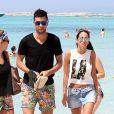 Javier Pastore et sa compagne Chiara Picone sur l'île de Formentera le 4 août 2014