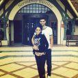 Javier Pastore et Chiara Picone, photo publiée sur le compte Instagram de cette dernière, le 25 août 2014