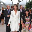 Exclusif - La princesse Caroline de Hanovre inaugurait le 10 septembre 2014 la rue Princesse-Caroline après travaux d'embellissement, dans le quartier de la Condamine à Monaco.