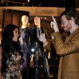 """Ayem Nour et Geoffrey de """"Secret Story 8"""" à la Vogue Fashion Night Out 2014 de Paris, le 16 septembre 2014. Cet événement est l'occasion pour les prestigieuses Maisons de Couture de célébrer la rentrée et présenter leurs nouvelles collections."""