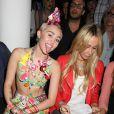 Miley Cyrus au défilé Jeremy Scott collection Printemps-Ete 2015 à New York, le 10 septembre 2014.