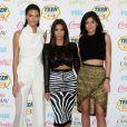 Kylie Jenner, Kim Kardashian et Kendall Jenner - Cérémonie des Teen Choice Awards à Los Angeles, le 10 août 2014.