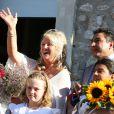 Troisième mariage de Charlotte de Turckheim avec Zaman Hachemi - Mairie d'Eygalières. Le 31 août 2012.