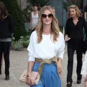 Fashion Week : Rosie Huntington-Whiteley et Clémence Poésy, stylées et en deuil