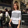 Sofia Coppola arrive à la boutique Sonia Rykiel du boulevard Saint-Germain pour le défilé Sonia Rykiel printemps-été 2015. Paris, le 29 septembre 2014.