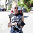 Ellen Pompeo va déjeuner avec un ami puis va s'acheter des coussins à West Hollywood le 1er juillet 2014.