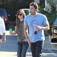 Ben Affleck et Jennifer Garner à Brentwood, le 3 octobre 2014.