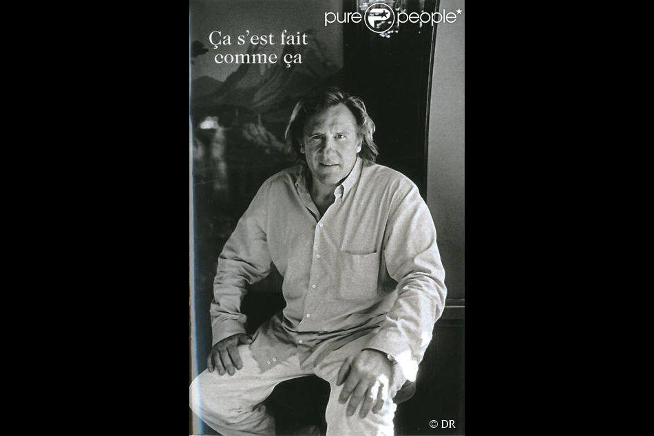 Le livre de Gérard Depardieu, Ça s'est fait comme ça, aux éditions XO