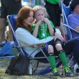 Marcia Cross assiste au match de football de ses filles à Brentwood le 5 octobre 2013.