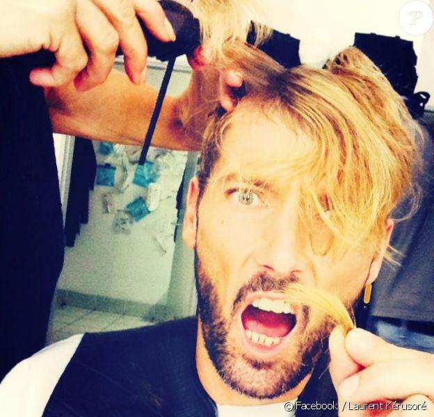 Laurent Kérusoré de la série Plus belle la vie (France 3) a totalement changé de coiffure. Octobre 2014.