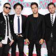 Le groupe Fall Out Boy, Pete Wentz, Patrick Stump, Andy Hurley et Joe Trohman lors des 5e Annual TeenNick HALO Awards au Hollywood Palladium de Los Angeles, le 17 novembre 2013