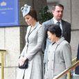 """Le prince William et son épouse Kate Middleton ont reçu le président de la république de Singapour, Tony Tan Keng Yam, et sa femme Mary Chee Bee Kiang au """"Royal Garden Hotel"""" à Londres. Le 21 octobre 2014"""
