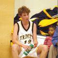 Kevin McEnroe avec son équipe de basket des Trinity Tigers à New York le 16 janvier 2003
