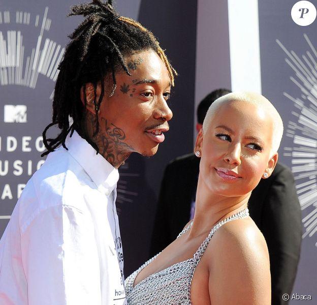 Wiz Khalifa et Amber Rose à Inglewood, Los Angeles, le 24 août 2014.