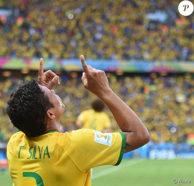 Thiago Silva lors du quart de finale face à la Colombie lors de la Coupe du monde brésilienne à Fortaleza, le 4 juillet 2014